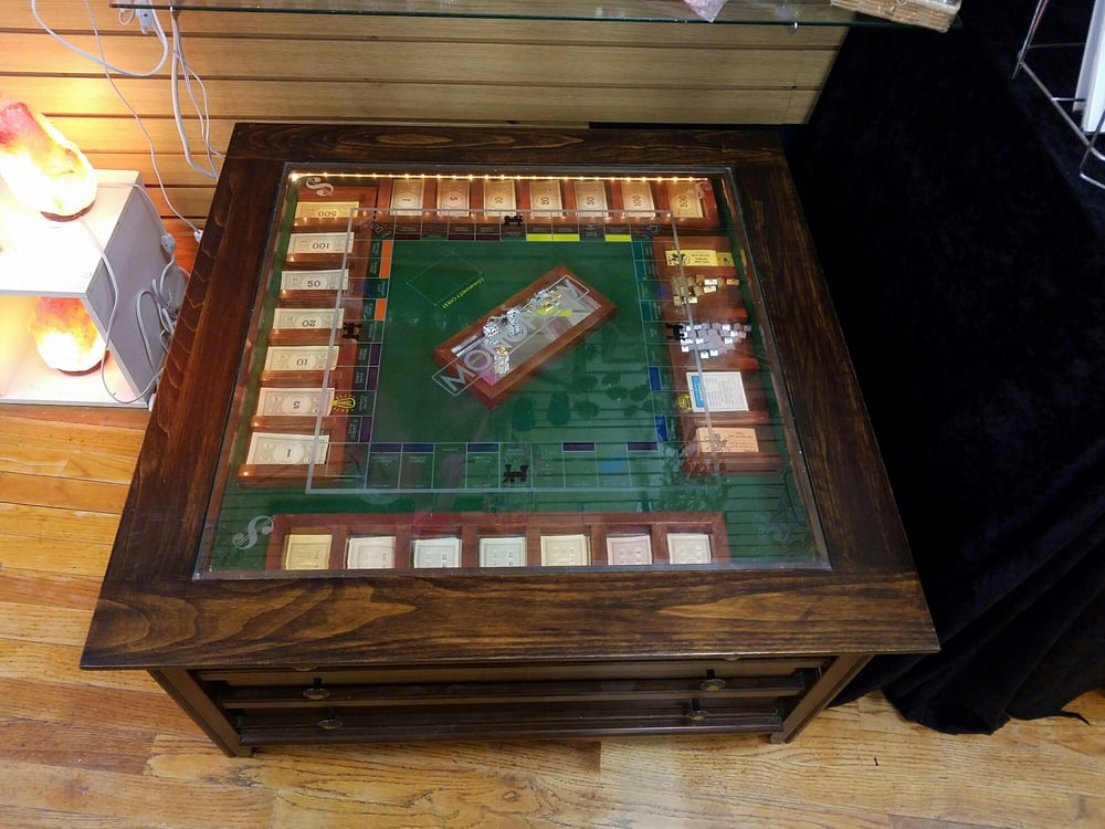 Monopoly Game Table Board Etched On The Glass So Cool Yelp