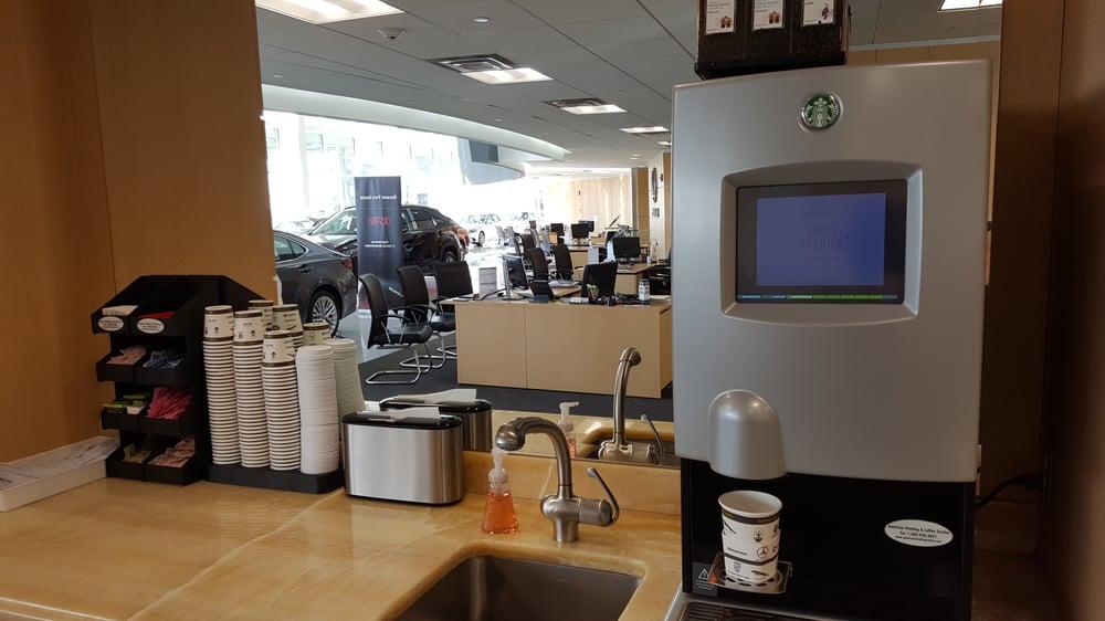 Lexus White Plains >> Starbucks machine - freshly ground coffee, hot chocolate, etc. - Yelp