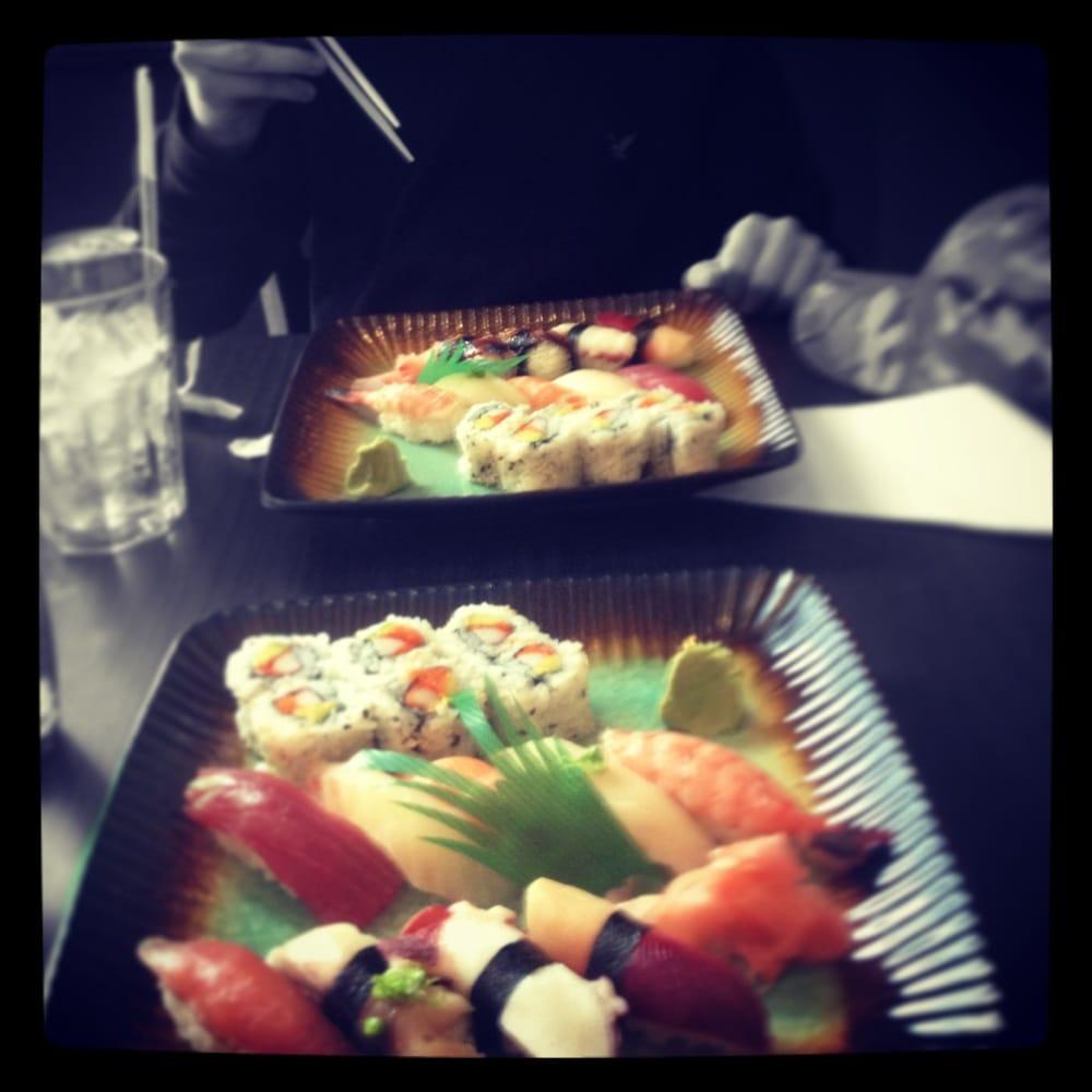Sushi deluxe from the lunch menu 7 nigiri 6 roll yelp for Aka japanese cuisine menu