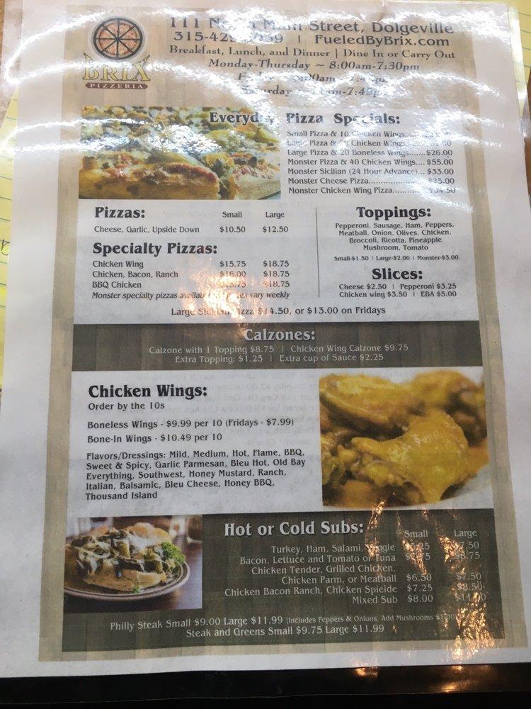 Brix Pizzeria: 111 N Main St, Dolgeville, NY