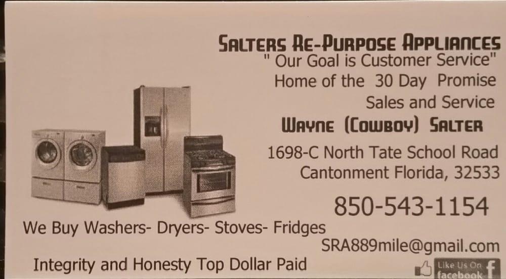 Salters re-purpose Appliances: 1698-C North Tate School Rd, Gonzalez, FL