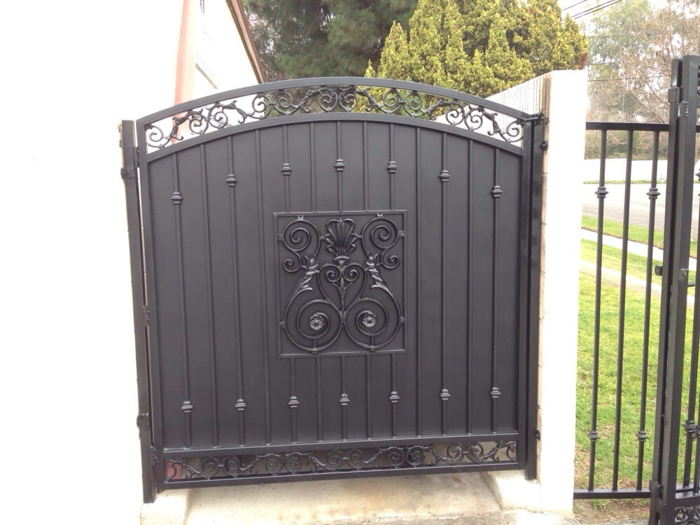 Solid sheet metal screen gate in Brea. - Yelp