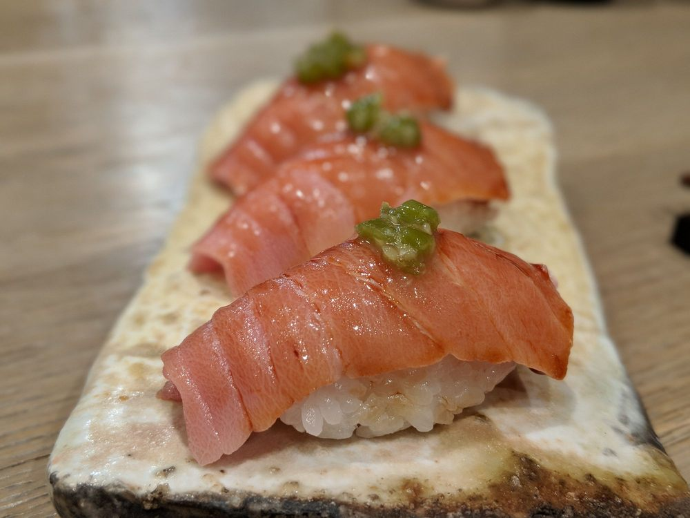 Food from The Sashimi Bar