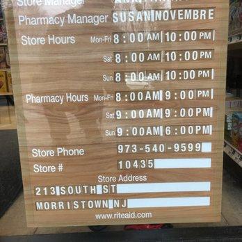 Rite Aid (Walgreens) Pharmacy - 123 Morristown Rd ...