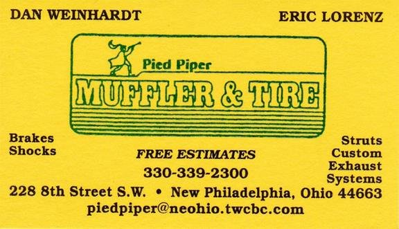 Pied Piper Muffler & Tire: 228 8th St Ext SW, New Philadelphia, OH