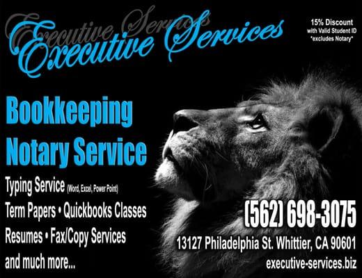 Executive Services 1840 W Whittier Blvd La Habra, CA Notary