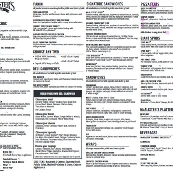 Juicy image with regard to mcalister's deli printable menu