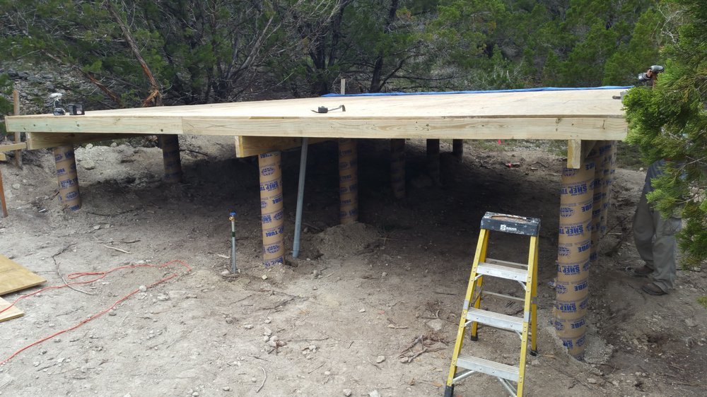 Brand new Pier & Beam foundation for a cabin at Canyon lake  - Yelp