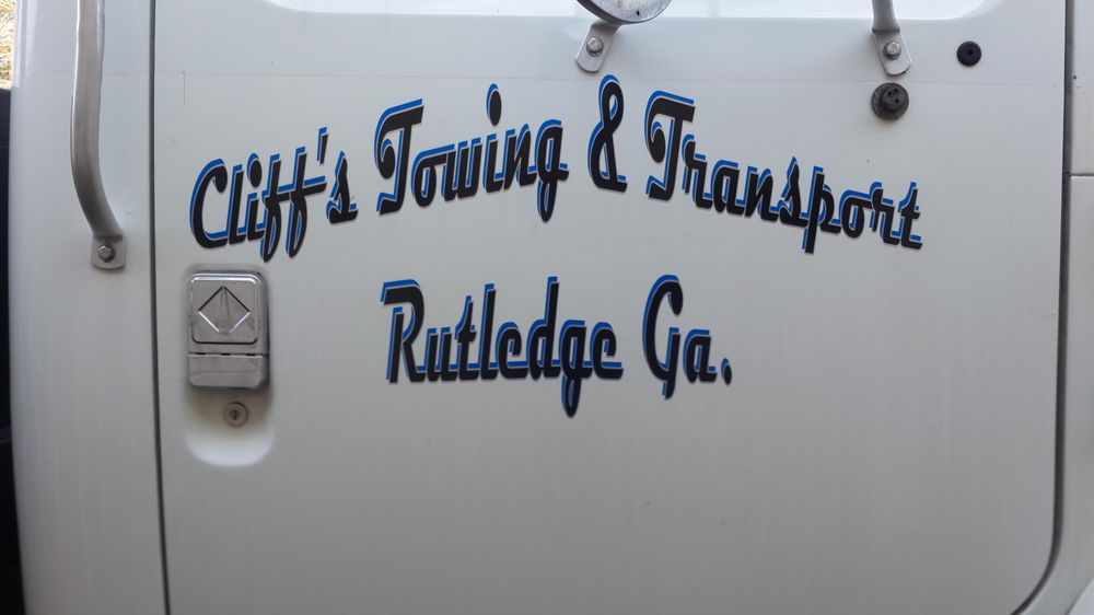Cliff's Towing & Transport: 505 W Main St, Rutledge, GA