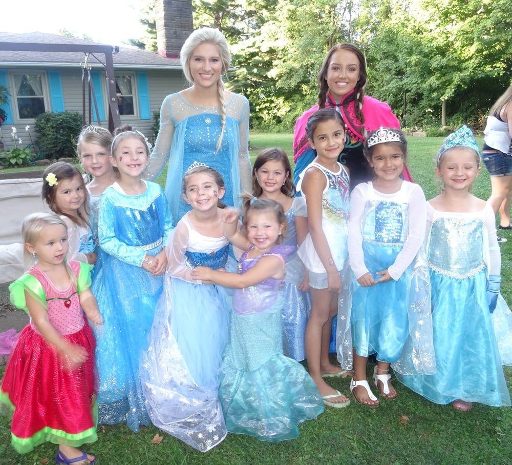 pretty as a princess party at a birthday party we have anna elsa