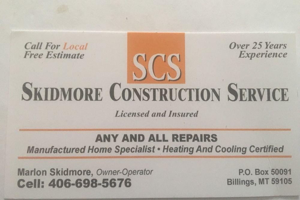 Skidmore Construction Service: Billings, MT