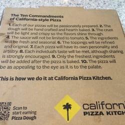 California Pizza Kitchen Reheat Instructions