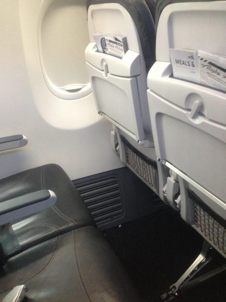 Typical 737-900ER economy seat on Alaska Airlines SEA-DTW flight - Yelp