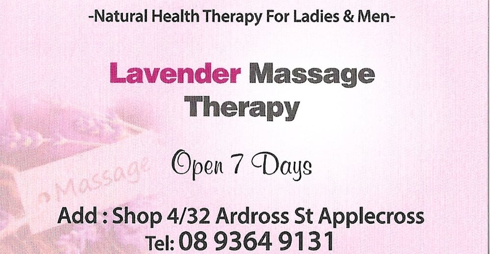 Our business card yelp photo of lavender massage applecross western australia australia our business card reheart Choice Image
