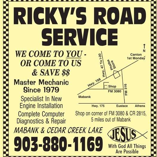Ricky's Road Service: 111 Van Zandt Co Rd 2815, Mabank, TX