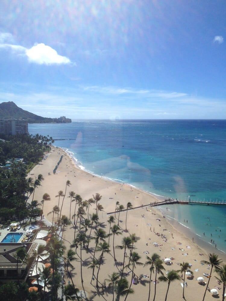 Hilton Hawaiian Village Waikiki Beach Photo Gallery: View From Elevator Area On The 19th Floor, Rainbow Tower