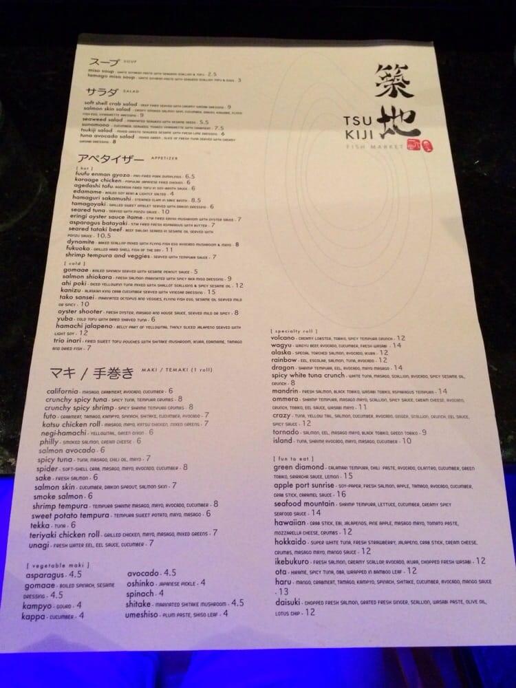 Menu front yelp for One fish two fish menu