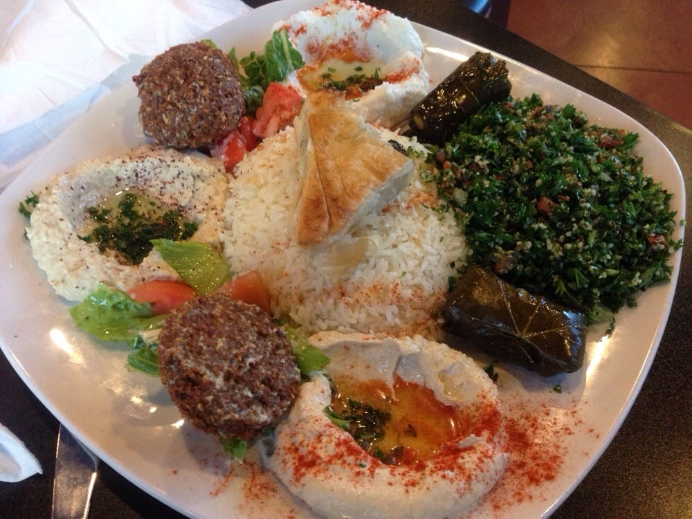 Photo of Cafe Byblos Mediterranean Grill - Denver, CO, United States. Veggie Combo ($14)
