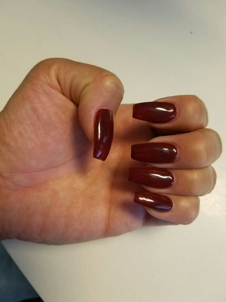 Beautiful full set by Kevin for fall. Coffin nails with OPI gel in ...
