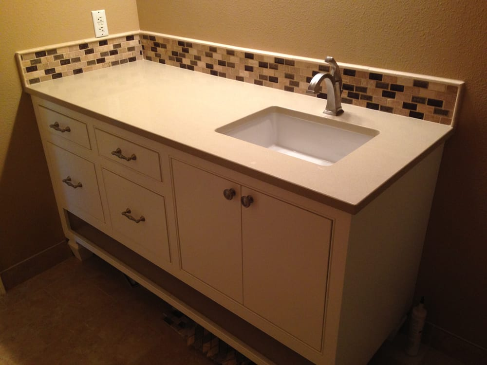 Guest bathroom vanity custom designed furniture like for Beaverton kitchen cabinets reviews