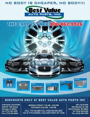 Best Value Auto >> Best Value Auto Body Supply 4425 W 16th St Chicago Il Automobile