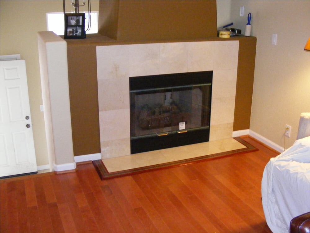 Laminate Flooring Fireplace Inlay Trim And Painting Fremont Yelp