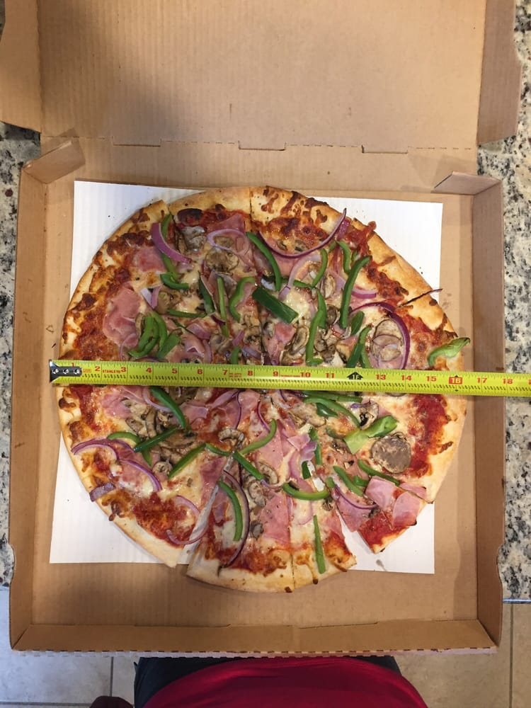 """Peppino S Pizza: I'm No Expert But This Looks Like A 16"""" Pizza In A 18"""" Box"""