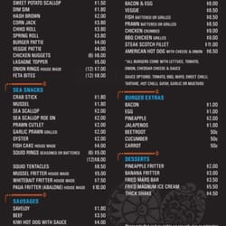 The flying fish fish n 39 chips 200 mirrabooka ave for The flying fish menu