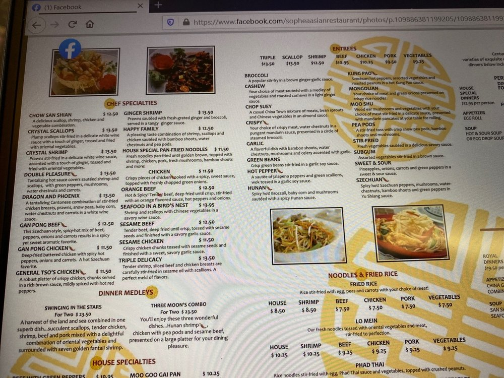 Sophea's Asian Restaurant: 2508 25th St, Columbus, IN