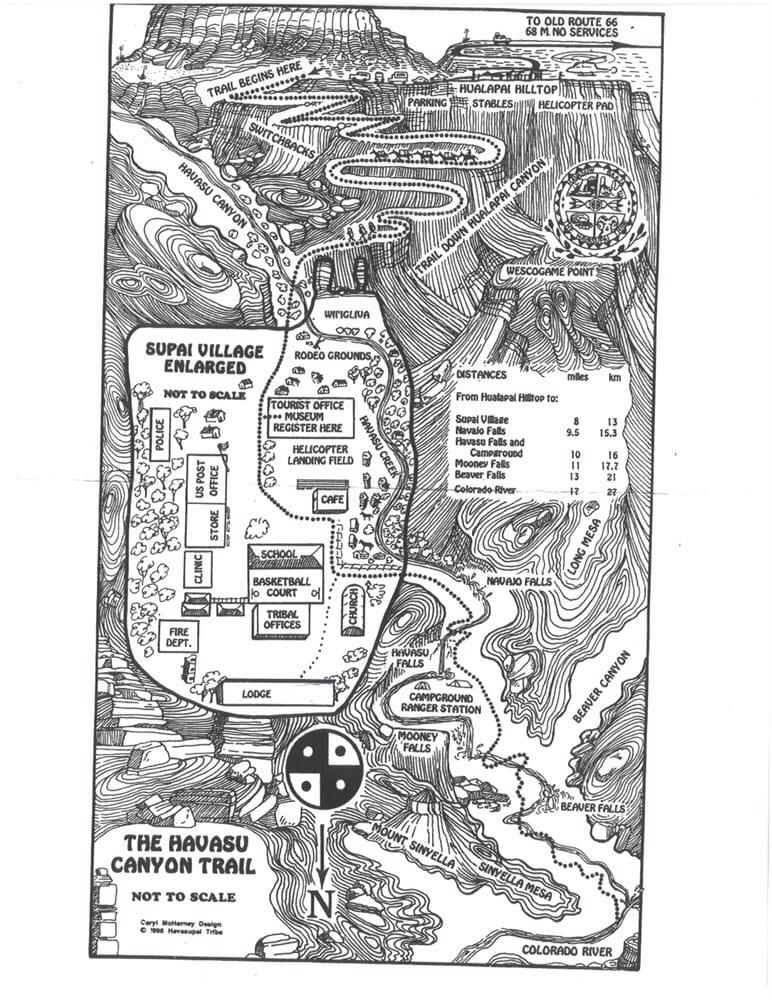 Supai Arizona Map.Supai Arizona Map Yelp