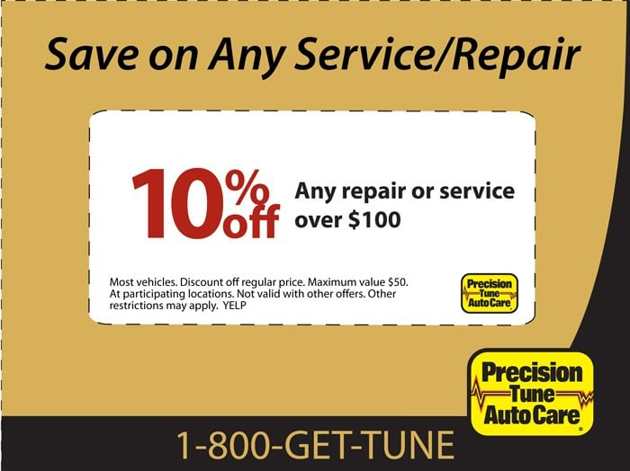 graphic relating to Precision Tune Auto Care Coupons Printable named Accuracy Track Car or truck Treatment - Automobile Restore - 4025 Victory Dr