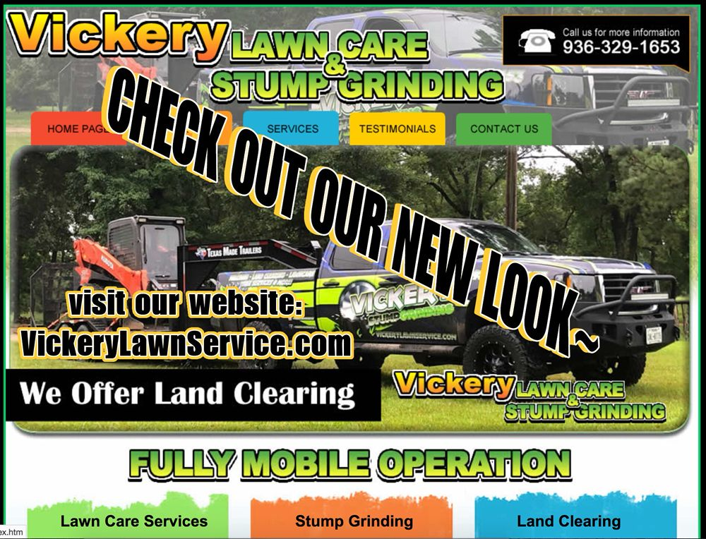 Vickery Lawn Service & Stump Grinding: 4349 State Hwy 146 S, Livingston, TX