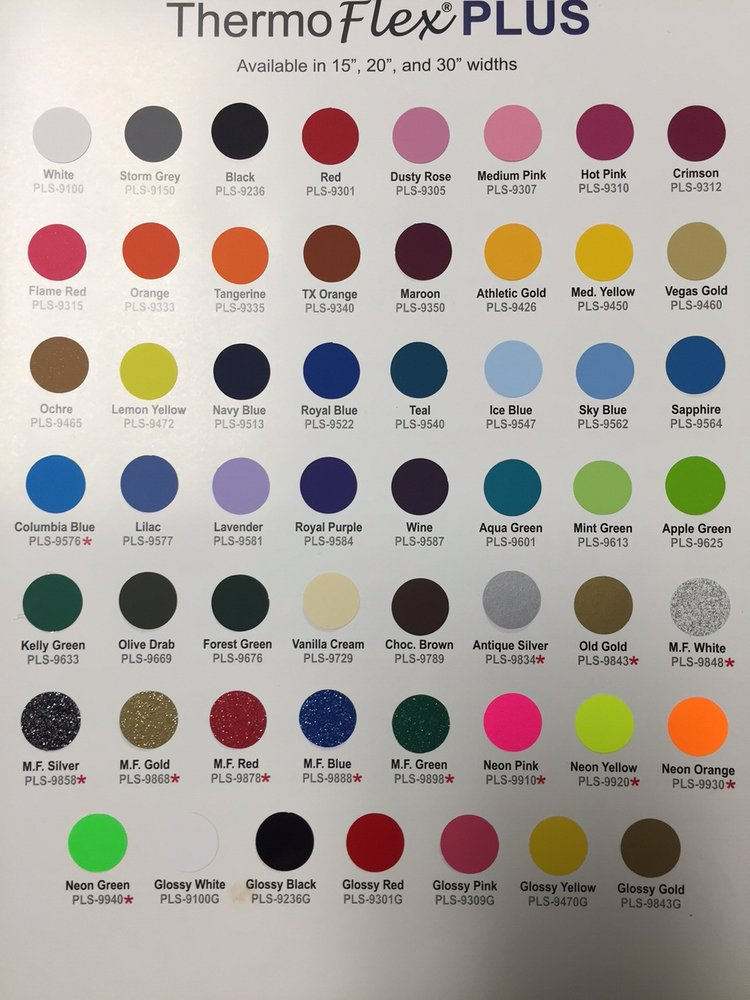 Thermoflex Plus Color Chart Yelp