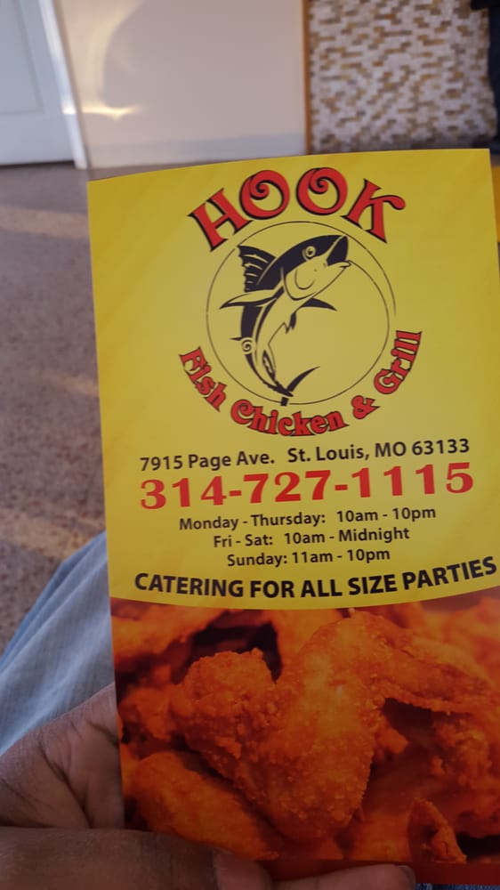 Hook Fish Chicken & Grill: 7915 Page Ave, Saint Louis, MO