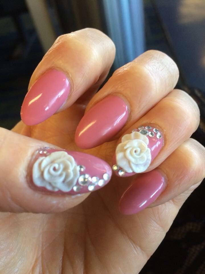 Acrylic nails with 3D nailart - Yelp