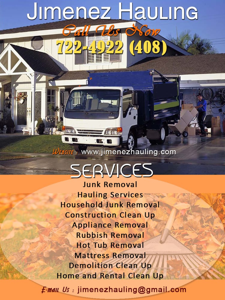 Construction Clean Up Services : Junk removal hauling services household