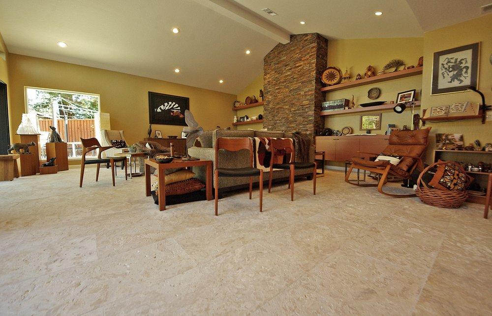 Jamaican Coral Tile Living Room Floor In Los Altos Hills Ca Yelp