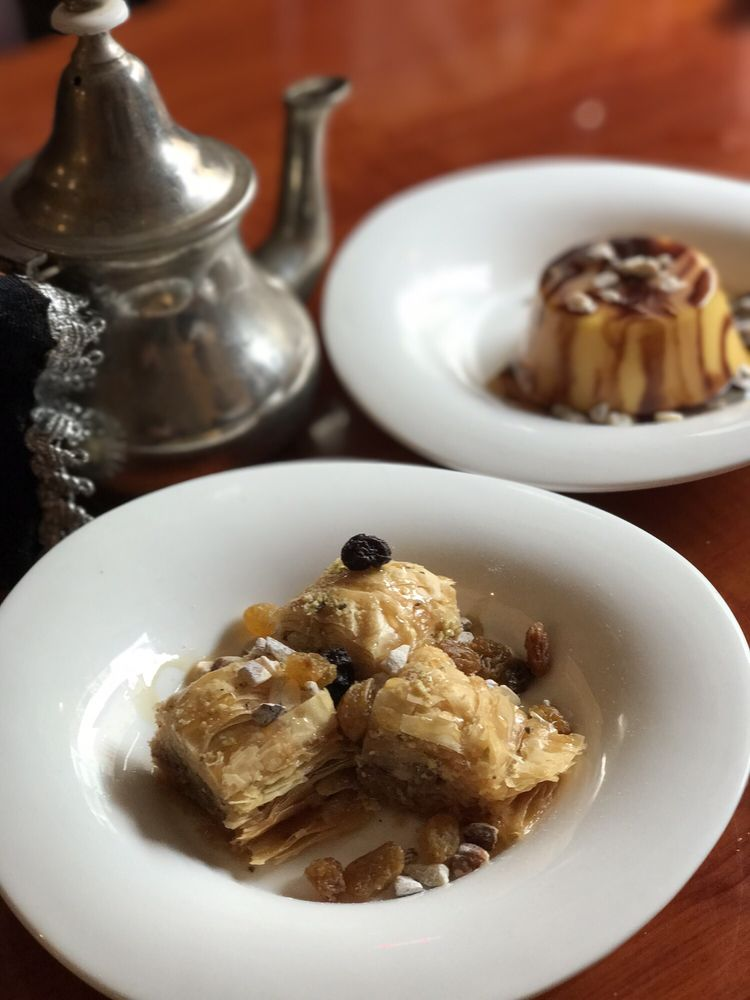 Baklava and flan yelp for Aicha moroccan cuisine san francisco
