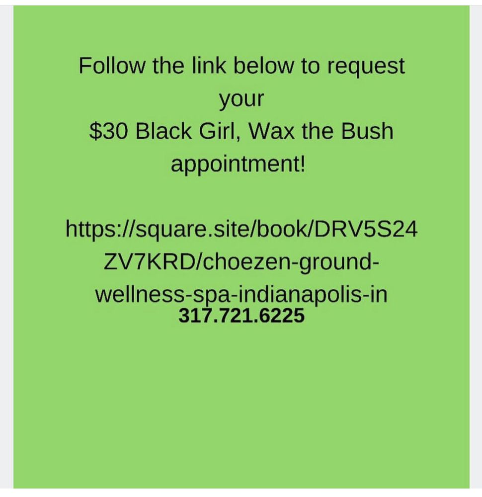 Spring Special! $30 Brazilian Wax $30 Ladyscape $40