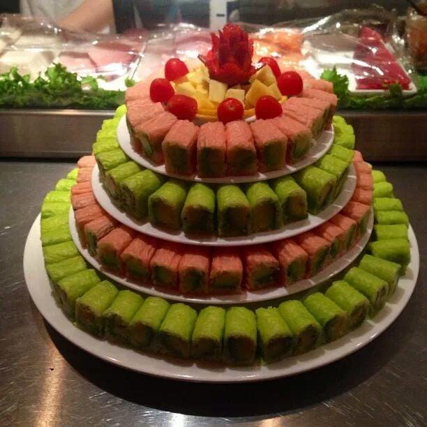 how to make sushi birthday cake