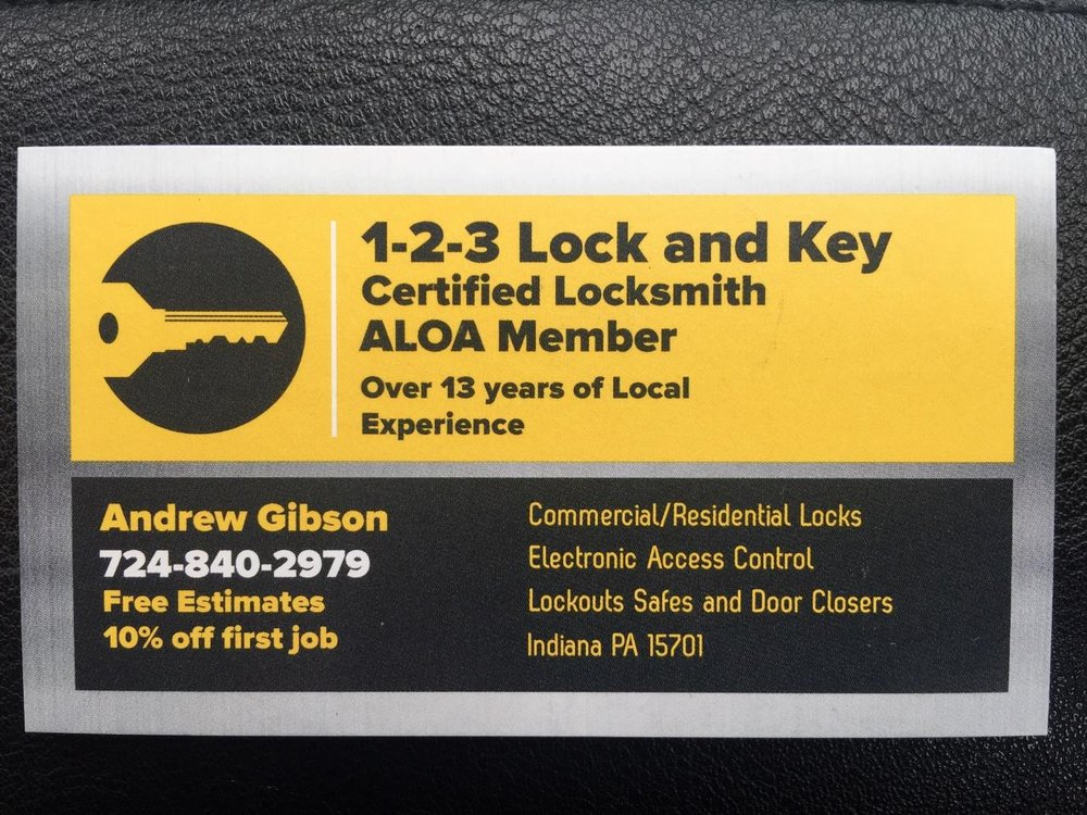 123 Lock and Key: 2279 Warren Rd, Indiana, PA