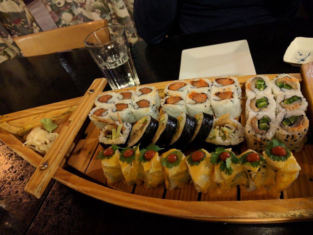 Food from Sagano Sushi
