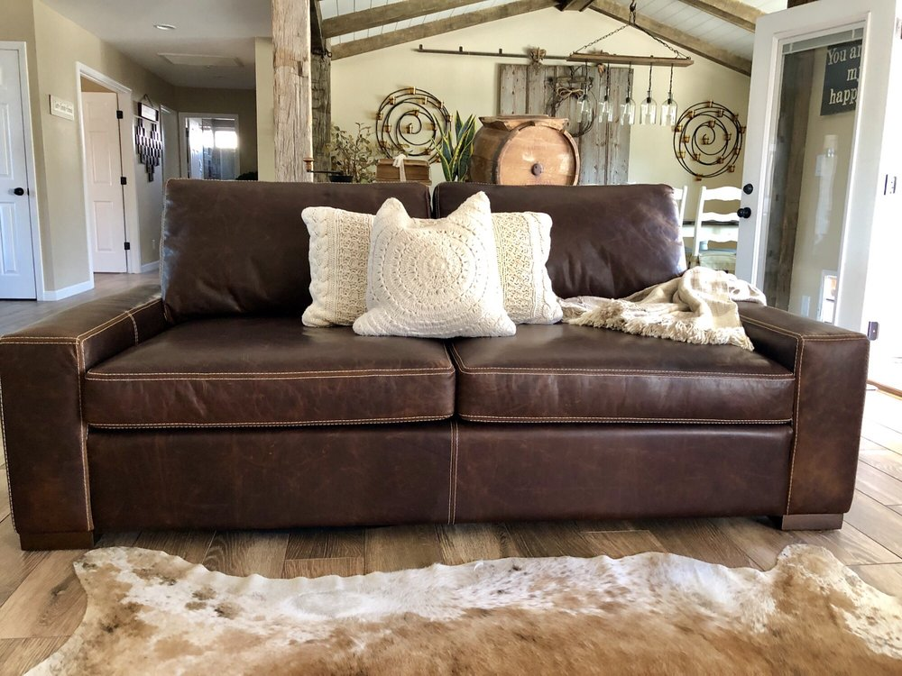 Wondrous Amazing Az Leather Max 2 Over2 Sofa In Polo Club Bourbon Yelp Creativecarmelina Interior Chair Design Creativecarmelinacom