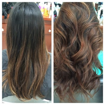 Before And After The End Result Reddish Brown Sun Kissed