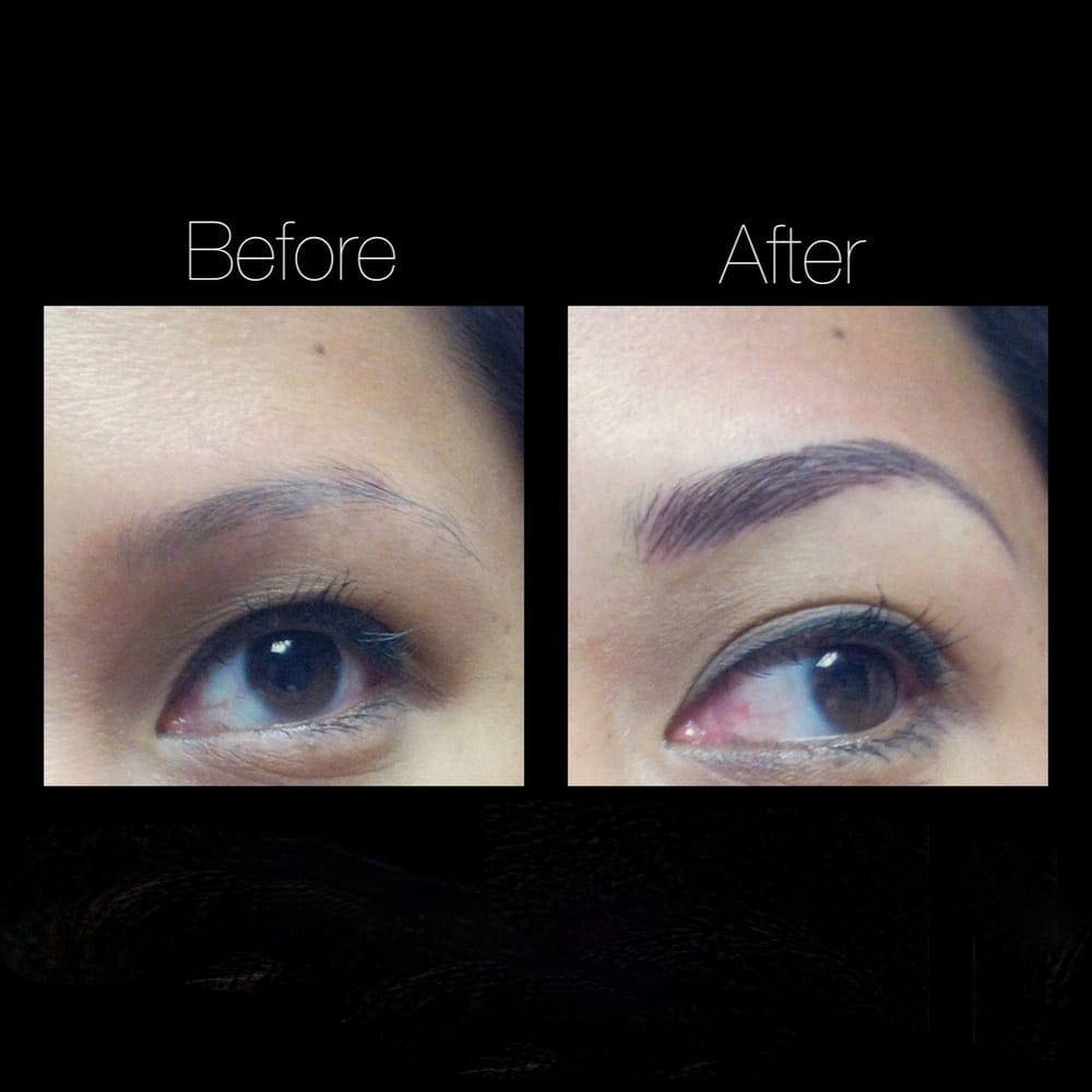 Semi permanent makeup cosmetic tattoo hair stroke for Semi permanent tattoo near me