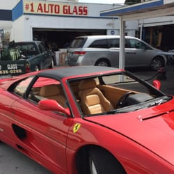 AD Auto Glass - Garden Grove, CA, United States. Windshield removed for Ferrari F355