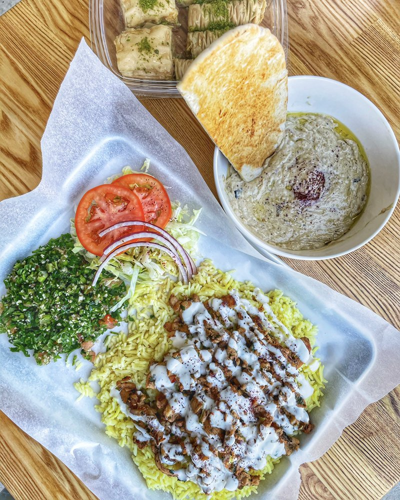 Food from Habibi Grill