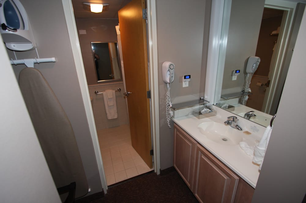 Nice Bathroom Sink Outside Toilet And Shower In