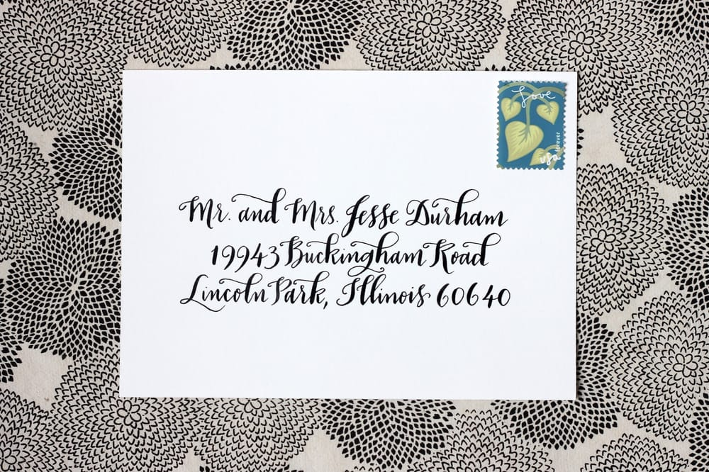 Meant To Be Calligraphy Cards Stationery Van Ness
