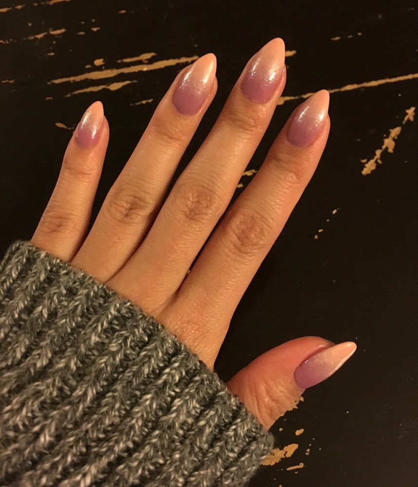 Nails Spa Los Angeles: Ombré Nails With Glitter To Blend. Great Detail! I Loved